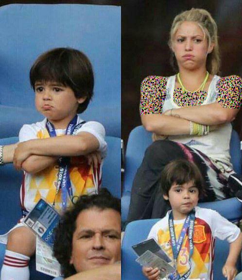 شکیرا خواننده کلمبیایی به همراه پسرش در ورزشگاه!+تصاویر