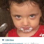 دختر بامزه مهدی سلطانی و ماست خوری!!+عکس