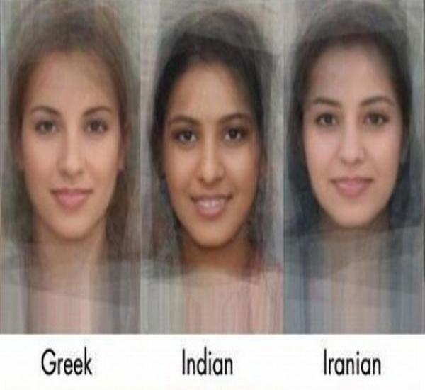 تصویر : مقایسه جالب ظاهر دختر ایرانی با هندی و یونانی