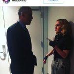 مدونا خواننده مشهور در کنار اوباما+عکس