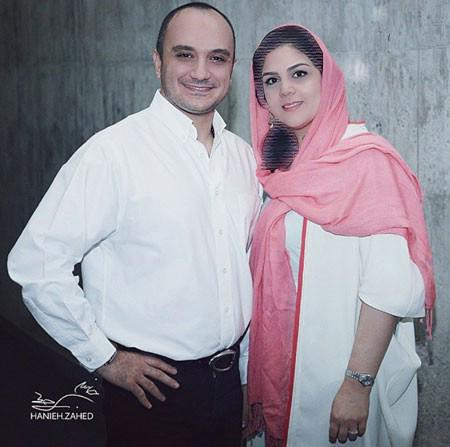 احسان کرمی مجری صدا وسیما و همسرش+عکس