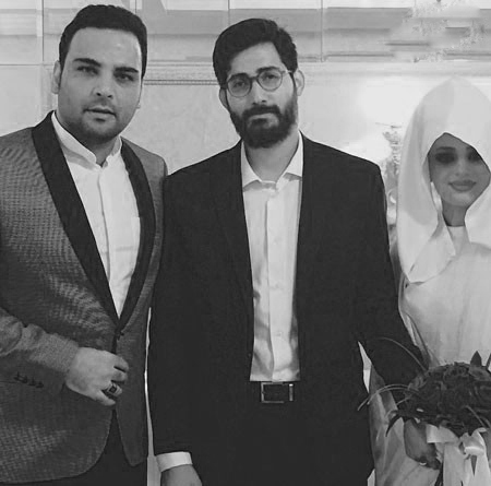 سلفی احسان علیخانی در عروسی حامد و عاطفه علی نیا+تصاویر