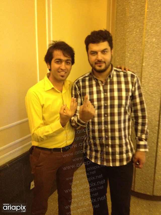 بازیگران در پشت صحنه برنامه صبح خلیج فارس+عکس