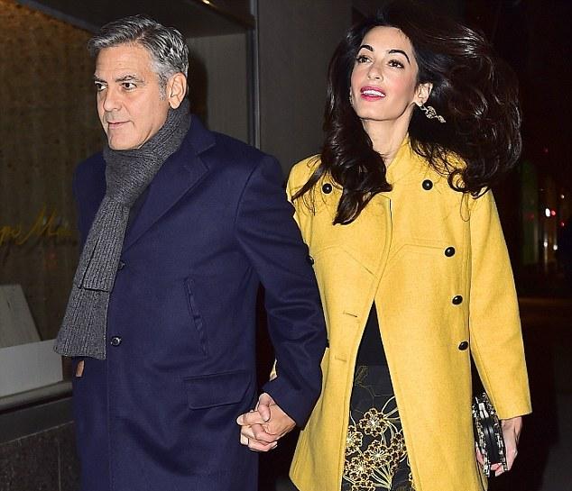 جورج کلونی و همسرش امل علمالدین