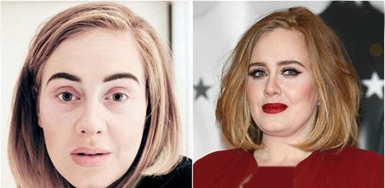 چهره بدون آرایش افراد معروف