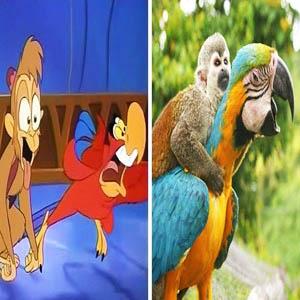 شخصیت های معروف انیمیشن و تشابه به حیوانات(۱)!