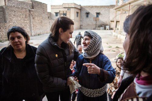 بازدید آنجلینا جولی از آوارگان سوری