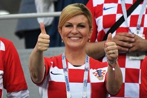 کولیندا گرابار کیتاروویچ رییس جمهور فوتبالدوست کرواتی و محبوب جهانیان+تصاویر