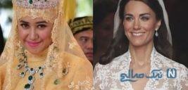 نگاهی به لباس عروس های سلطنتی دنیا در روز عروسی شان +تصاویر