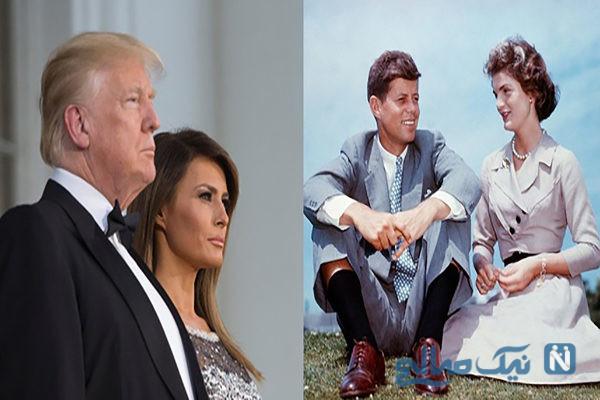 اختلاف سنی روسای جمهور آمریکا و همسرانشان از ترامپ تا کندی +تصاویر
