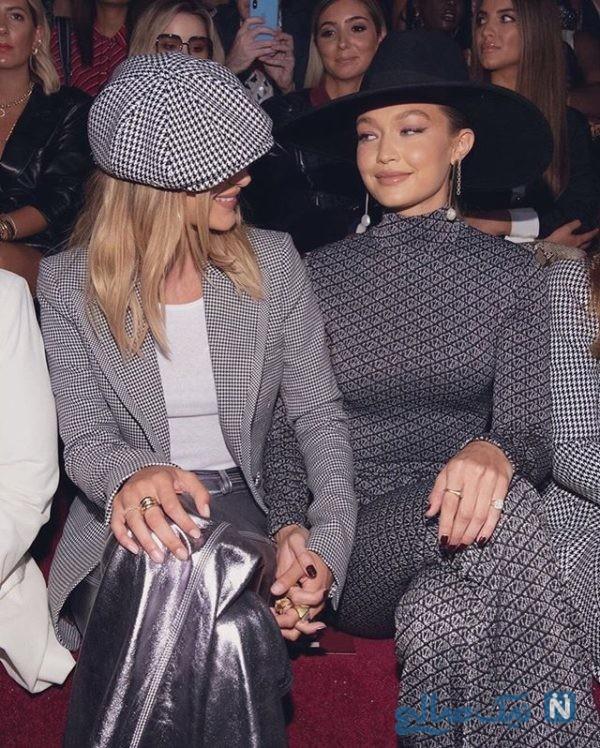 استایل شیک جیجی و بلا حدید دو خواهر مدل آمریکایی در هفته مد نیویورک +تصاویر