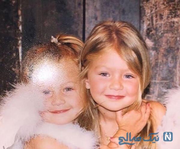 کودکی خواهران مدل