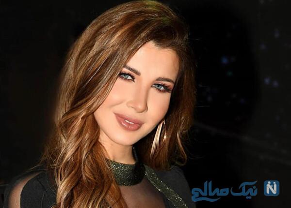 نانسی عجرم و دخترانش با همسرش فادی الهاشم