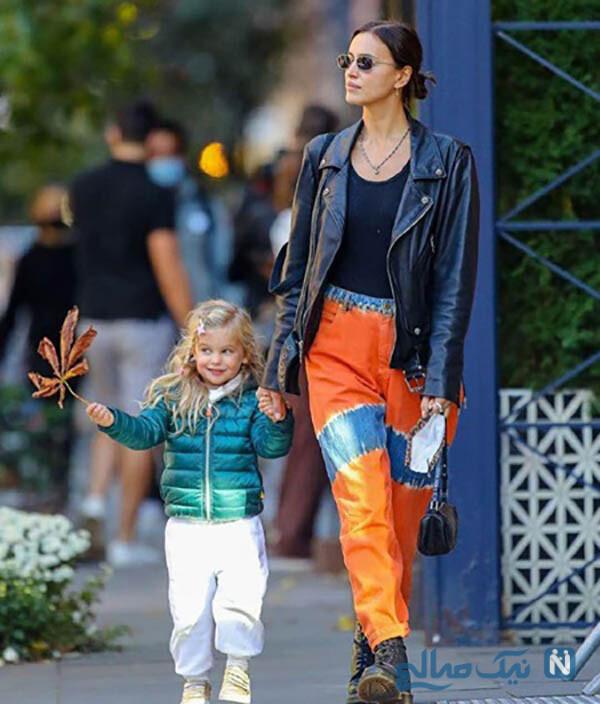 ایرینا شایک و دخترش