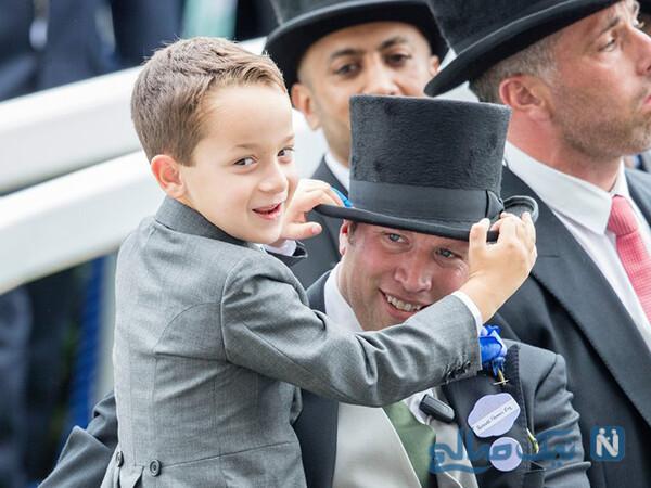 راسل فلاورز و پسر پرنسس هیا