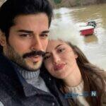 بوراک اوزچویت و همسرش فحریه اوجن در حال گردش