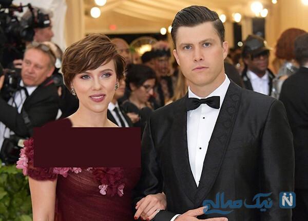 اسکارلت جوهانسون و همسرش