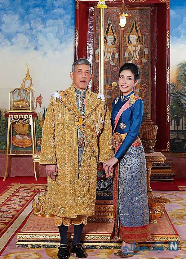 پادشاه تایلند و همسرش