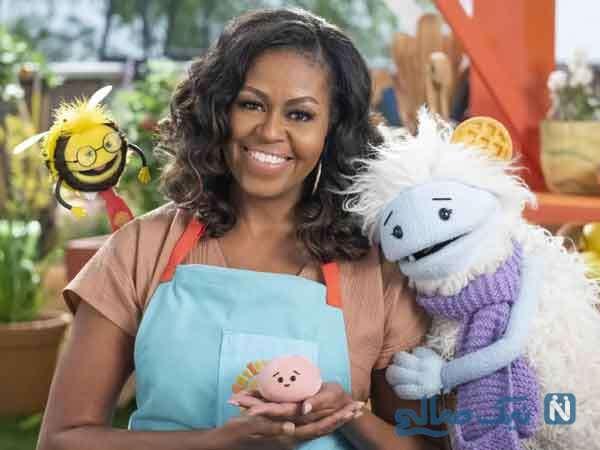 مجری گری میشل اوباما بانوی اول سابق آمریکا در برنامه کودک