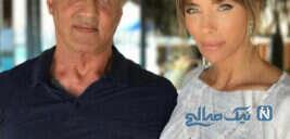 خانواده سیلوستر استالونه بازیگر امریکایی در جشن فارغ التحصیلی دخترش