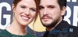 کیت هرینگتون و همسرش رز لزلی از بازیگران سریال بازی تاج و تخت