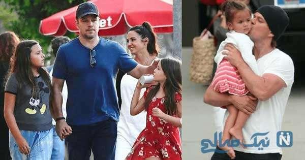 مت دیمون و دخترش