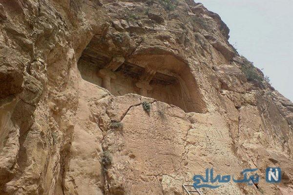 دخمه ای رازآلود در کرمانشاه+تصاویر