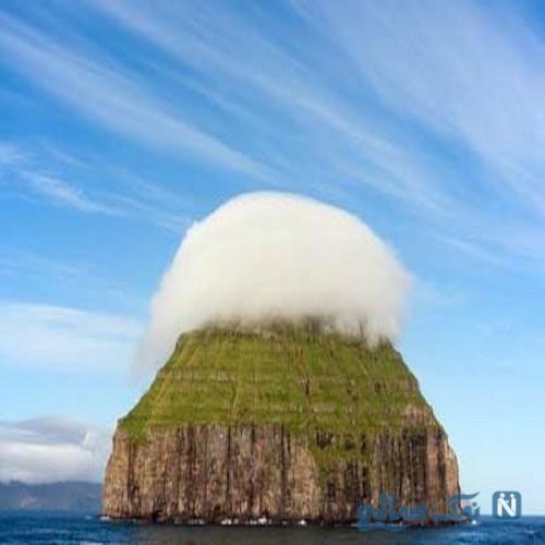 جزیره ای شگفت انگیز درمیان ابرها+تصاویر