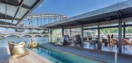 هتلی لوکس روی رودخانه سن ساخته شده است +تصاویر