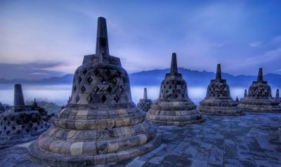 بوروبودور بزرگترین معبد بودای جهان+تصاویر