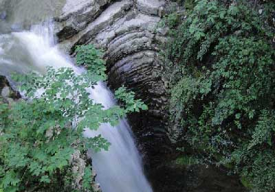 آبشاری در دل جنگلهای گیلان+تصاویر