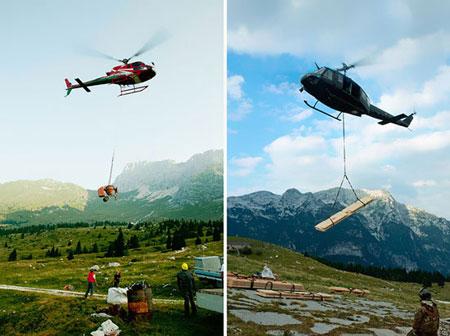 کلبه کوهستانی با منظره فوق العاده +تصاویر