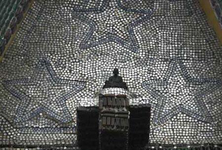 معبد بودایی ساخته شده از بطری!+تصاویر