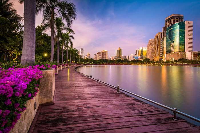 پارک بنجاکیتی ;طبیعتی بی نظیر و بسیار زیبا در قلب بانکوک+تصاویر