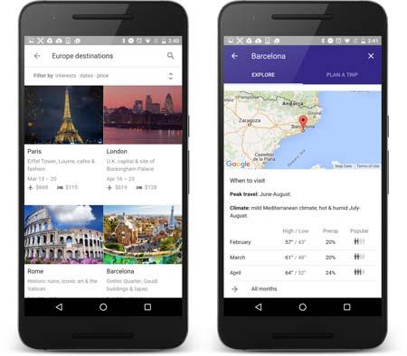 """نرم افزار """"Google Trips"""",راهنمای سفردر عصر تکنولوژی تصاویر"""