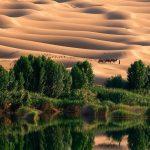 | دریاچه اوباری تکه ای از بهشت در دل جهنم در لیبی + تصاویر