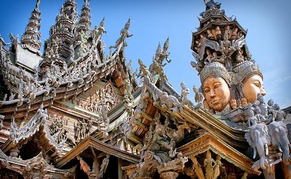 خانه مقدس حقیقت پاتایا معبدی چوبی بی نظیر در تایلند