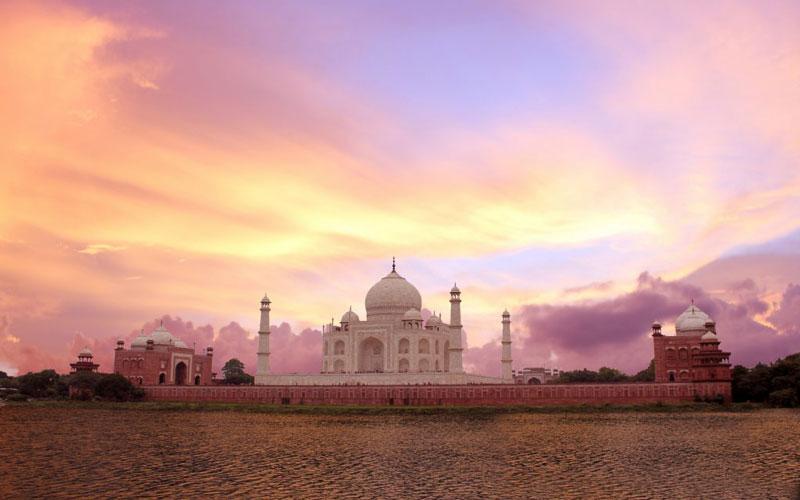 غروب خورشید در هند