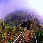 هیجان و لذت تفریح در پلههای هایکو در هاوایی