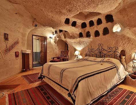هتل هایی به شکل غار در ترکیه