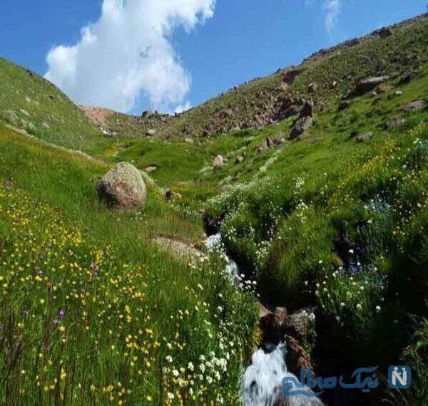 آبشار ورگه سران از جاذبههای طبیعی سرعین
