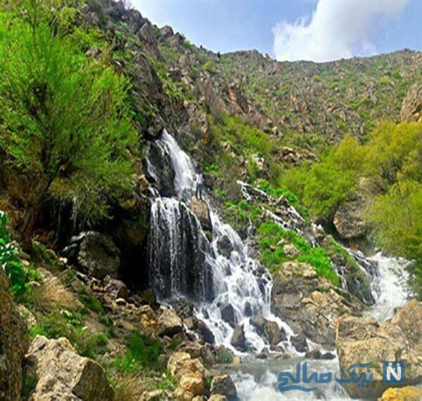 آبشار نره گر یکی دیگر از جاذبه های طبیعی و گردشگری خلخال