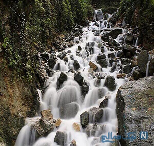 جاهای دیدنی آبشار آب پری