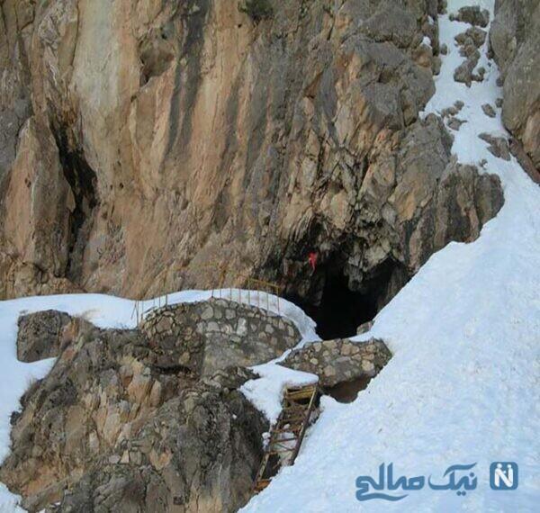 غار یخ مراد ، یکی از زیباترین غارها