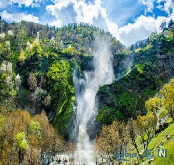 بازدید از آبشار سه طبقه ی شلماش