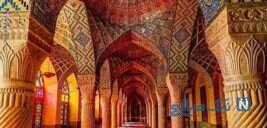 جاذبه مسجد نصیر الملک ؛صورتی ترین مسجد ایران