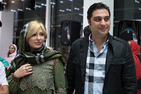 نیوشا ضیغمی به همراه همسرش آرش پولادخان در یک بازارچه خیریه!+تصاویر
