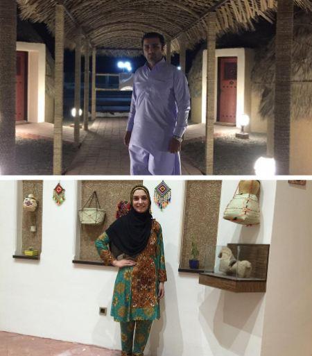 الیکا عبدالرزاقی و همسرش امین زندگانی در قلعه گنج کرمان!+تصاویر