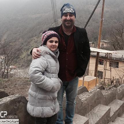 بازیگر مرد ایرانی و دخترش +عکس