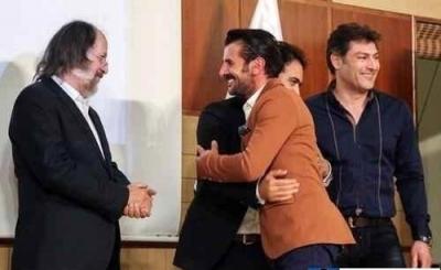 امین حیایی و پوریا پور سرخ در تاسیس مدرسه فوتبال رئال مادرید در ایران+تصاویر